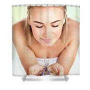 Beautiful Woman At Spa Salon Shower Curtain