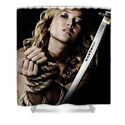 Beautiful Woman Begging For Mercy Shower Curtain