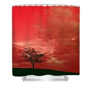 Beauty Stands Against The Terrible Sky Shower Curtain