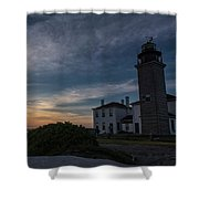 Beavertail Lighthouse Shower Curtain