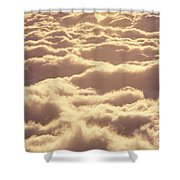 Bed Of Puffy Clouds Shower Curtain