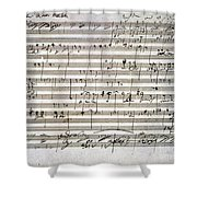 Beethoven Manuscript Shower Curtain by Granger