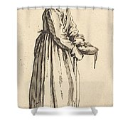 Beggar Woman With Pan Shower Curtain