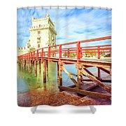 Belem Tower Lisbon Shower Curtain