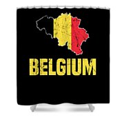 Belgium Flag Apparel Shower Curtain