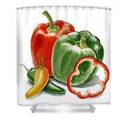 Bell Peppers Jalapeno Shower Curtain