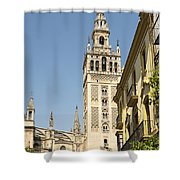Bell Tower - Cathedral Of Seville - Seville Spain Shower Curtain
