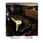 Bellagio Hotel Fountain, Las Vegas Shower Curtain