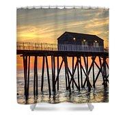 Belmar Fishing Pier Sunrise Shower Curtain