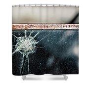Belmont Broken Truck Window 1571 Shower Curtain