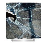 Belmont Cracked Window And Shadow 1599 Shower Curtain