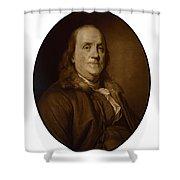 Benjamin Franklin - Three Shower Curtain