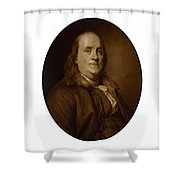 Benjamin Franklin Shower Curtain by War Is Hell Store