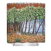 Beside The Pond Shower Curtain