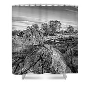 Beyond The Rocks Shower Curtain