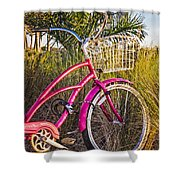 Bicycle At The Beach II Shower Curtain