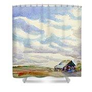 Big Alberta Sky Shower Curtain