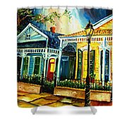 Big Easy Neighborhood Shower Curtain