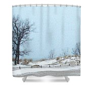 Big Red Lighthouse - View 1 Shower Curtain