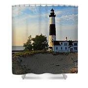 Big Sable Point Lighthouse Shower Curtain