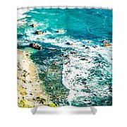 Big Sur California Coastline On Pacific Ocean Shower Curtain