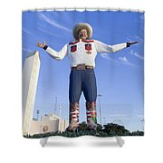 Big Tex In Dallas Texas Shower Curtain