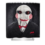 Billy The Puppet Shower Curtain