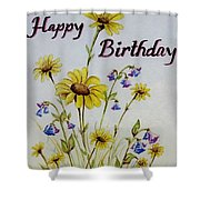Birthday Card Shower Curtain