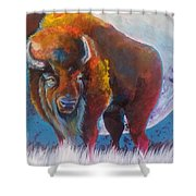Bison Moon Shower Curtain