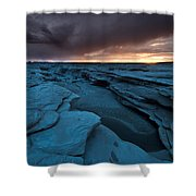 Bisti Fissure New Mexico Shower Curtain