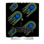 Bitcoin To The Moon Astronaut Cryptocurrency Humor Funny Space Crypto Shower Curtain