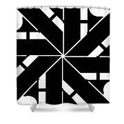 Black And White Geometric Shower Curtain