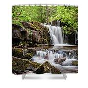 Blaen Y Glyn Waterfalls Shower Curtain