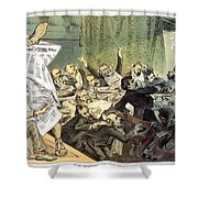 Blaine Cartoon, 1884 Shower Curtain