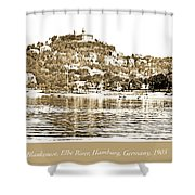 Blankenese, Hamburg, Germany Suburb, Elbe River, 1903 Shower Curtain