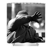 Blind Man Shower Curtain