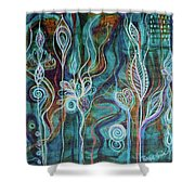 Bling Bling Shower Curtain