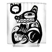 Bloodwolf Shower Curtain