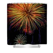 Blooming Fireworks Shower Curtain