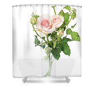 Rose Twigs Shower Curtain