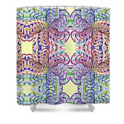Blossoms And Butterflies Shower Curtain