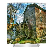 Blowing Cave Mill Near Smoky Mountains Of East Tennessee Shower Curtain