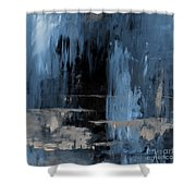 Blue Abstract 12m2 Shower Curtain