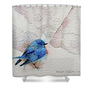 Blue Bird Shower Curtain
