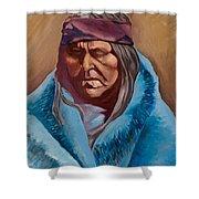 Blue Blanket Shower Curtain