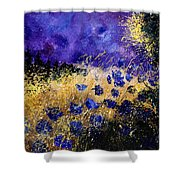Blue Cornflowers Shower Curtain