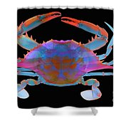 Blue Crab, X-ray Shower Curtain