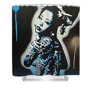 Blue Geisha Shower Curtain
