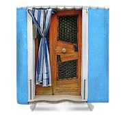 Blue In Burano Shower Curtain