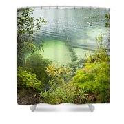 Blue Lake Stradbroke Island Shower Curtain
